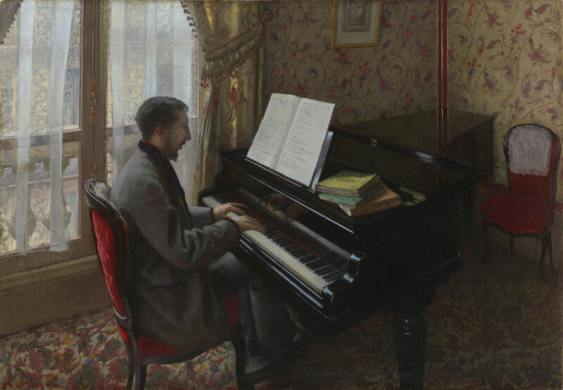 《Young Man Playing the Piano》