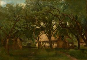 《オンフルールのトゥータン農場》 1845年頃 油彩・カンヴァス