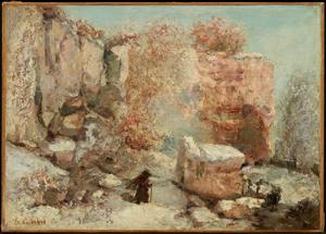 《石切り場の雪景色》 1870年頃 油彩・カンヴァス