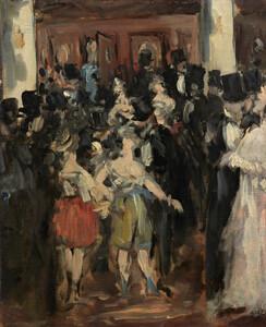 《オペラ座の仮装舞踏会》 1873年 油彩・カンヴァス