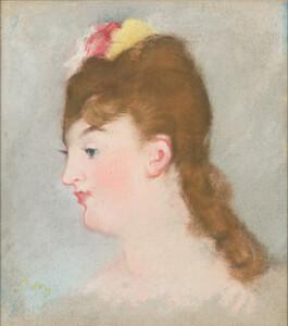 《メリー・ローラン》 1882年 パステル・カンヴァス