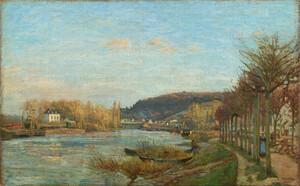 《ブージヴァルのセーヌ川》 1870年 油彩・カンヴァス