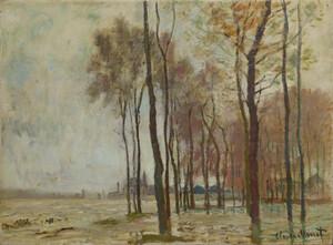 《アルジャントゥイユの洪水》 1872-73年 油彩・カンヴァス