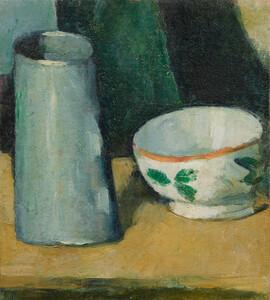 《鉢と牛乳入れ》 1873-77年頃 油彩・カンヴァス