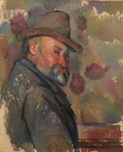 《帽子をかぶった自画像》 1890-94年頃 油彩・カンヴァス