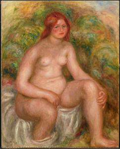 《すわる水浴の女》 1914年 油彩・カンヴァス