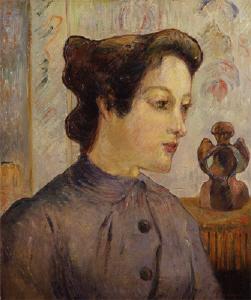 《若い女の顔》 1886年 油彩・カンヴァス