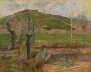 《ポン=タヴェン付近の風景》 1888年 油彩・カンヴァス