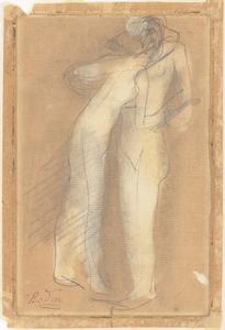 《裸婦》  鉛筆、淡彩・紙