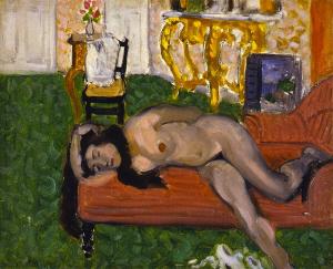 《横たわる裸婦》 1919年 油彩・カンヴァスボード