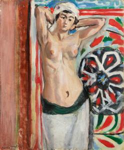 《両腕をあげたオダリスク》 1921年 油彩・カンヴァスボード