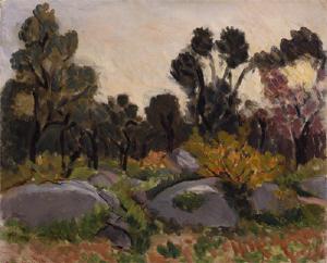 《ルー川のほとり》 1925年 油彩・カンヴァス