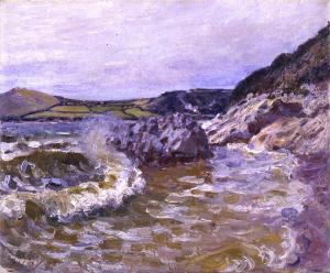 《レディーズ・コーヴ、ウェールズ》 1897年 油彩・カンヴァス