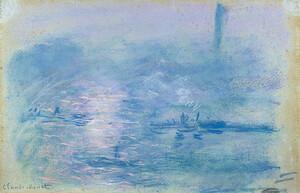 《霧のテムズ川》 1901年 パステル・紙