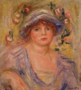 《青帽子の女》 1918年頃 油彩・カンヴァス