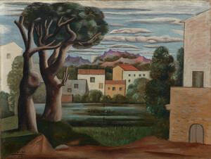 《生木と枯木のある風景》 1919年 油彩・カンヴァス