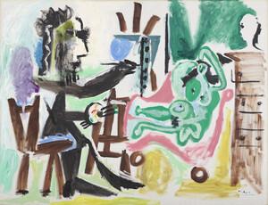 《画家とモデル》 1963年 油彩・カンヴァス