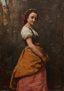 《森の中の若い女》 1865年 油彩・板