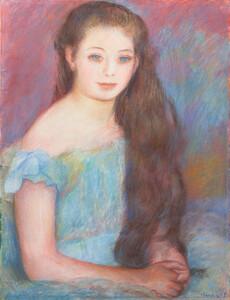 《少女》 1887年 パステル・紙