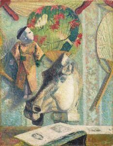 《馬の頭部のある静物》 1886年 油彩・カンヴァス