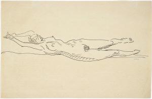 《裸婦》  インク・紙