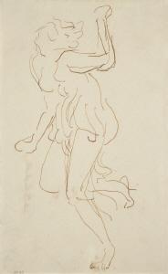 《踊るイサドラ》  インク・紙