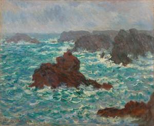 《雨のベリール》 1886年 油彩・カンヴァス