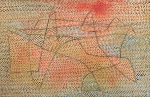 《島》 1932年 油彩、砂を混ぜた石膏・板