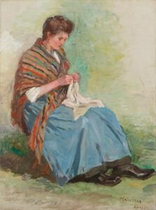《縫物》 1902年 油彩・カンヴァス
