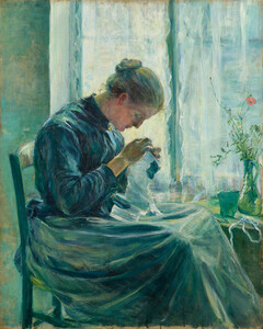 《針仕事》 1890年 油彩・カンヴァス
