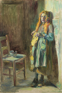 《Girl of Bréhat》 1891 Oil on canvas