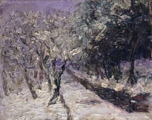 《雪景》 1913年 油彩・カンヴァス