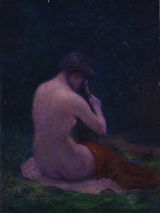 《髪梳く女》 1915年 油彩・カンヴァス