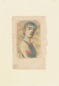 《自画像》 1903年 色鉛筆・紙