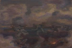 《肉弾三勇士》 1935年 油彩・カンヴァス