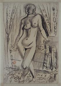 《裸婦素描》 1926年 コンテ・紙