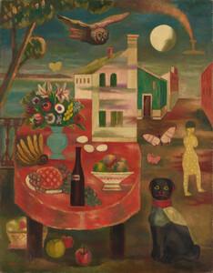 《素朴な月夜》 1929年 油彩・カンヴァス