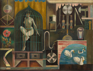 《鳥籠》 1929年 油彩・カンヴァス