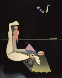 《涯しなき逃避》 1930年 油彩・カンヴァス