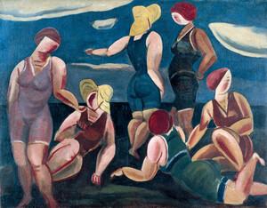 《海水浴の女》 1923年 油彩・カンヴァス