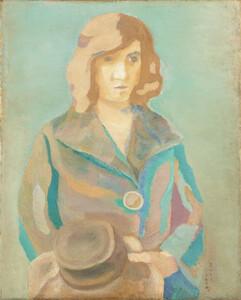 《帽子を持てる女》 1923年 油彩・カンヴァス