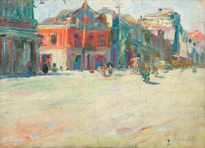 《街道(銀座風景)》 1911年頃 油彩・カンヴァス