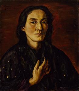 《画家の妻》 1914年 油彩・カンヴァス