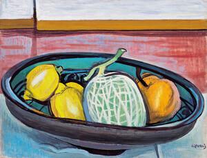 《レモンとメロン》 1955年 油彩・カンヴァス