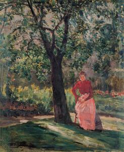 《樹下の女》 1901年頃 油彩・カンヴァス