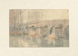 《グレーの古橋》 1901年 水彩・紙
