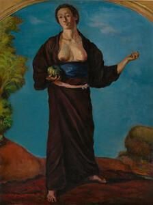 《南瓜を持てる女》 1914年 油彩・カンヴァス