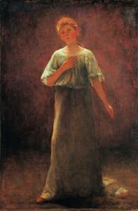 《薔薇の少女》 1901年 油彩・カンヴァス