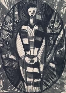 楕円形の女性像