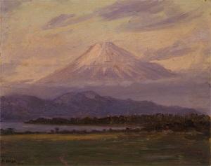《富士山》 1918年 油彩・板
